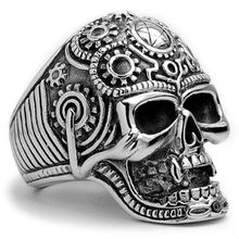 stainless steel fashion skull ring