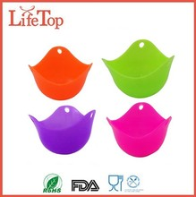 Food Safe and FDA Compliant Silicone Egg Cooker (4 Pack)