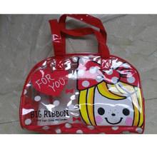 pvc handle beach bag, pvc travel bag