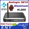 100% Origional Amlogic S812 Android4.4 Tv Box Kodi 14.0 Dual Wifi Aluminum Casing Android Tv Box with Bluetooth 4.0