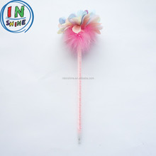 Novelty cartoon flower shaped plush ball pen , Promotional gifts plush ball pen