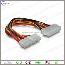 custom 4.2mm pitch 20 pin to 24 pin atx power supply cable