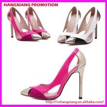 Cheap Hollow Design High Heel Shoe Sweet Peach Lady Heels Sexy Stiletto Shoes