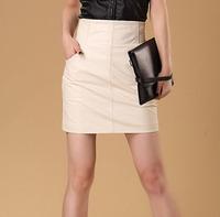 Genuine leather custom pencil skirt ,skirt for women