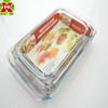 Professional Oven Use Borosilicate Glass Ovenable Baking Tray