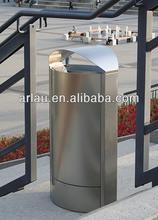 BS58 Full Stainless Steel Material Oval Lid Garbage Bin