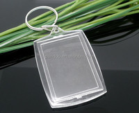 Key Chain&Key Rings W/Transparent Acrylic Picture Frames fit photo 32.5x46mm