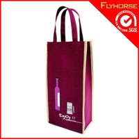 Durable 2 wine bottles non woven packing bags