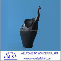 unique handmde black ceramic elephant stand for sale