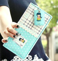 England grid girl wallet polka dot inside with pendant