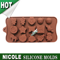 B0182 Cartoon Cake Mold Silicone Chocolate Moulds Ice Cube Tray