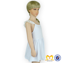 Factory price dress designs teenage girls, Clear White baby girl dresses,girls' dress with sleeveless