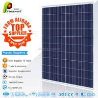 Powerwell Solar 250watt Poly Module With CE/IEC/TUV/ISO/INMETRO/CEC Approval Standard Poly Solars Panels