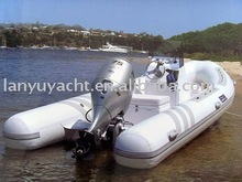 inflatable fishing boat with rib floor