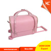 PVC makeup trolley case, Professional zippered makeup rolling train trolley cosmetic case vanity case
