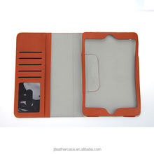 High Quality multi card slot magnet buckle Genuine Leather case for Apple ipad mini