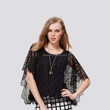 Hot Vintage Blusas 2015 Summer short Sleeve Blouse Lace Shirt Patchwork Fashion Women Tops from OEM manufacturer Guangzhou