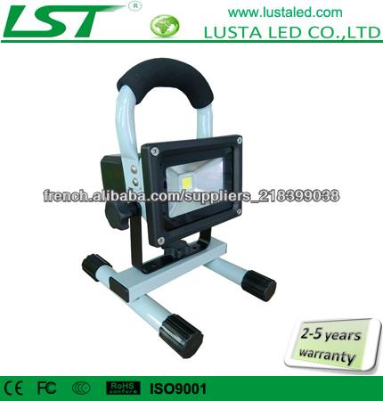projecteur led sans fil 1 10w bridgelux led. Black Bedroom Furniture Sets. Home Design Ideas