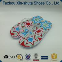 flip flop with decorative logo strap,cute strap sandals