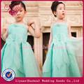 2014 fashional y hermoso manzana verde flor vestidos de niña