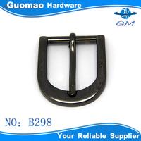 Mid-size D-ring gunmetal modern belt buckle type