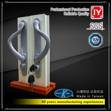 in lega di zinco alluminio porta scorrevole in vetro maniglia e serratura