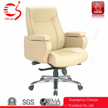 Manafactory leather executive office chair white color