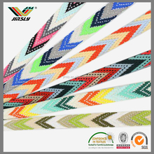 multicolor polyester jacquard elastic webbing for Garment