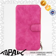 universal smart phone wallet style leather with PC plastic housing mobile phone cover case for Samsung galaxy note 5