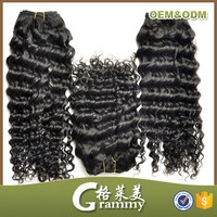no shed deep curly virgin remy unprocessed indian 18 inch human hair weft
