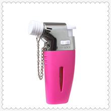small three colors portable cigarette use butane gas jet lighter GF-862 with fire lock