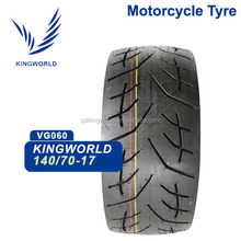 Japan brand quality tubeless motorcycle tires 140/70/17