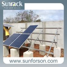 2015 solar panel pv mounting rai system/structure mount bracket