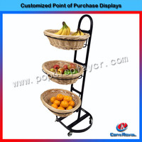 High quality new products metal supermarket fruit display stand