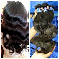 Wholedsale price brazilian virign hair 7A high grade micro thin weft hair extension
