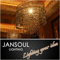 fancy curtain shape industrial handmade golden chandelier pendant lights
