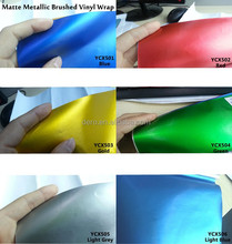 Dero new product !!!Matte Metallic Brushed Protective and Decorative Vinyl Film for Car Body
