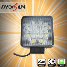 Cheap price 4inch 27w led work light round/square cheap led led light Off Road auto motorcycle jeep