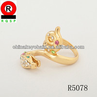 New arrival snake Shape Gold ring finger ring wedding ring Latest animal Design