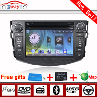 Bway 2 din car audio player for TOYOTA RAV4 2009-2010 car dvd gps 256 MB RAM with car Radio bluetooth,steering wheel