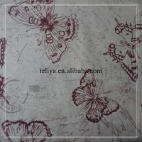 Brown butterfly fabric for upholstery