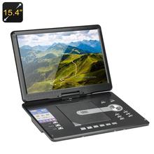 15.4 polegada Portable HD DVD Player - région livraison, Tv, Fm, Jeux émulation, 270 grau écran pivotant, Fonction de copie