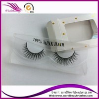 hot sell luxury mink fur natural false eyelash with top quality packageing