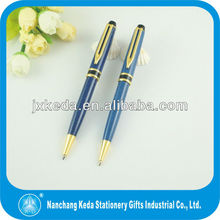2014 Wholesale high quality classical metal elegant Ball Point novelty clip pen with plated color size and logo