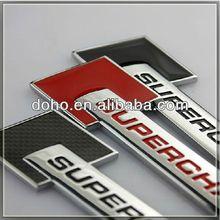 Custom ABS Chrome car emblems and self-adhesive chrome car logo, custom made car metal emblems (ss-3398)