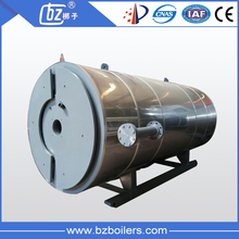 Oil gas fired hot oil boiler for heating pitch