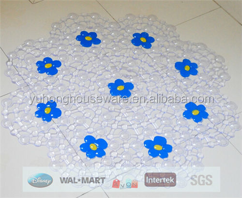 red flower anti-slip bath mat