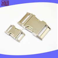 zinc alloy curved buckle,metal side release buckle, metal quick release buckle for bag