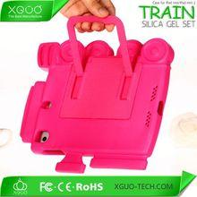 Train shape Silicone hand hold case for ipad mini 2