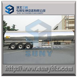 40 cbm AA5454 aluminum fuel tanker semi trailer meet DOT, SASO, TUV certificate
